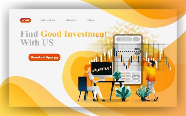 Find good investment Premium Vector