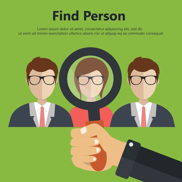 Find person for job Free Vector