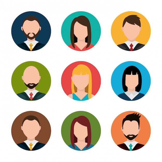 Find person for job opportunity Free Vector