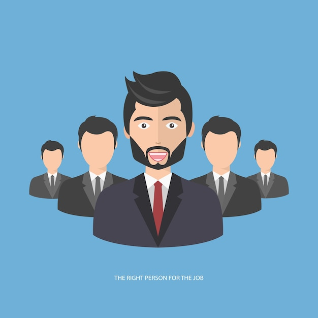 Find the right person for the job Free Vector