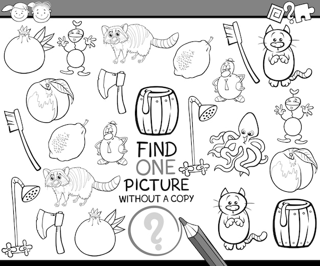 Find single picture game cartoon Premium Vector