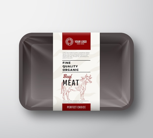 Fine quality beef meat container Free Vector
