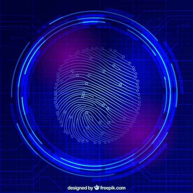 Finger print scan Free Vector
