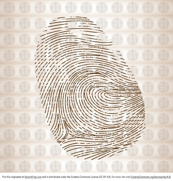 Finger print vector graphic Free Vector