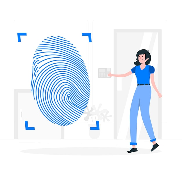 Fingerprint concept illustration Free Vector