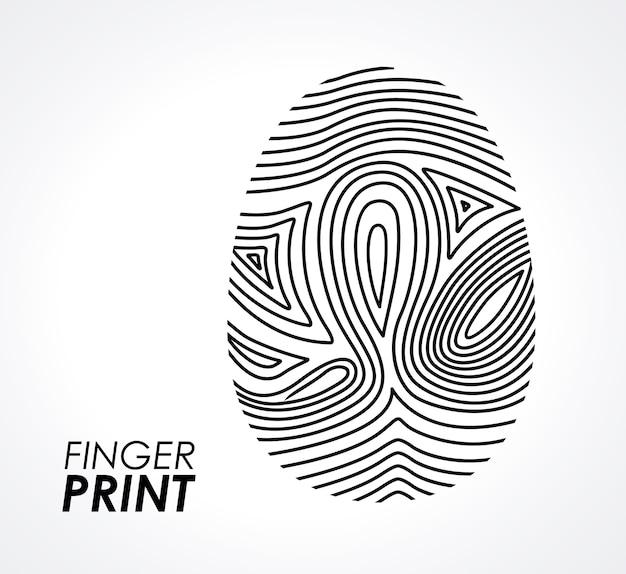 Fingerprint desi Premium Vector