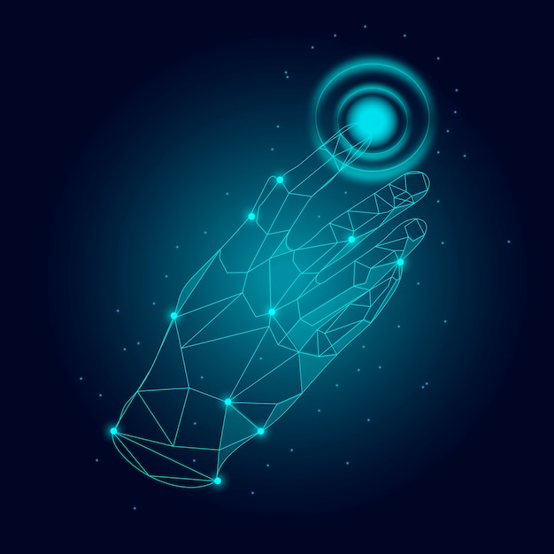 Fingerprint scanner technology Free Vector