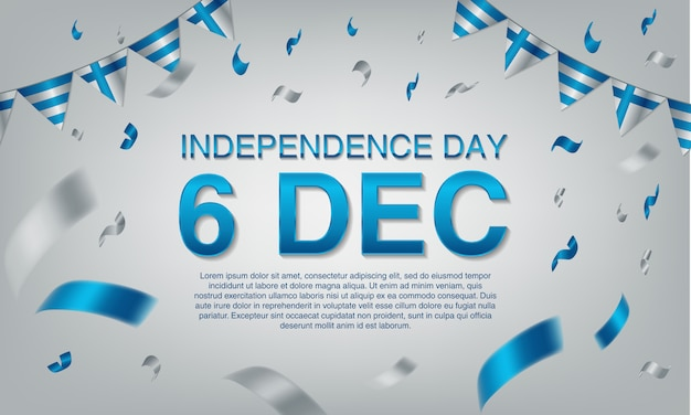 Finland independence day greeting card. Premium Vector