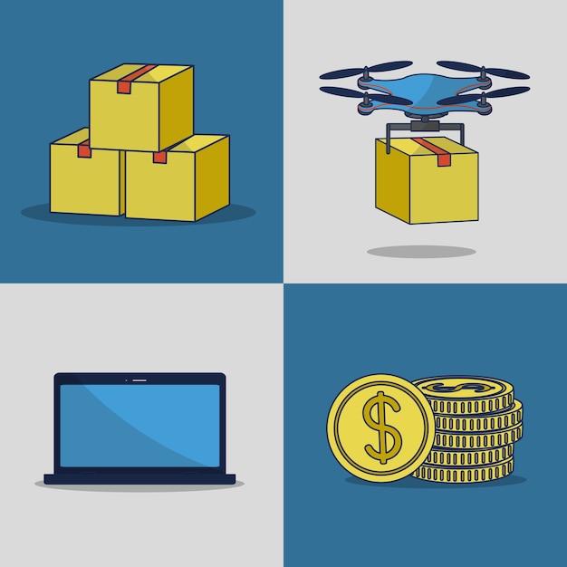 Fintech industry Premium Vector