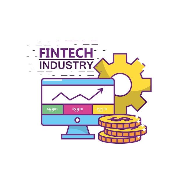 Промышленность fintech Premium векторы
