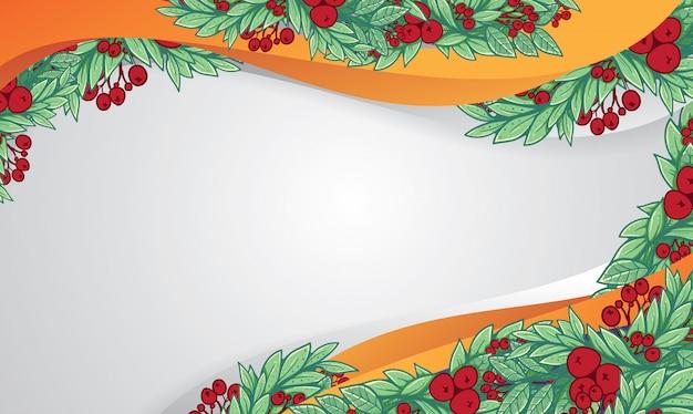 クリスマスレイアウトチョコレートムースのfirフレーミング Premiumベクター