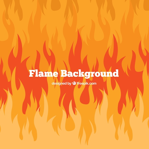 Fire background in abstract design Premium Vector