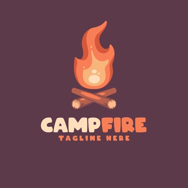 あなたの会社の火の漫画のロゴ Premiumベクター