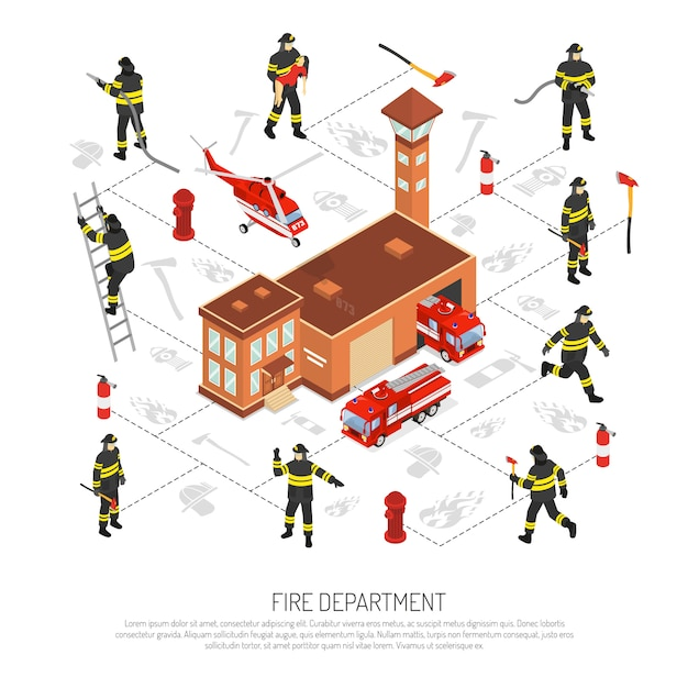 Fire department infographic Free Vector