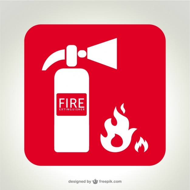 fire extinguisher logo   vector Free Vector