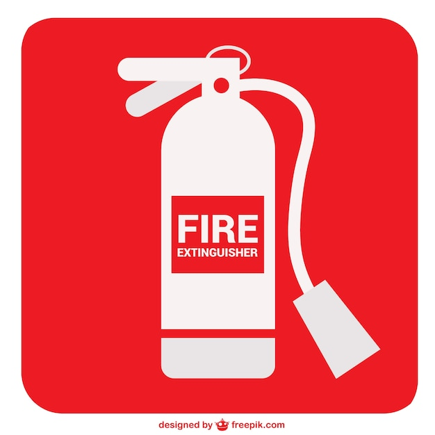 fire extinguisher sign vector free download
