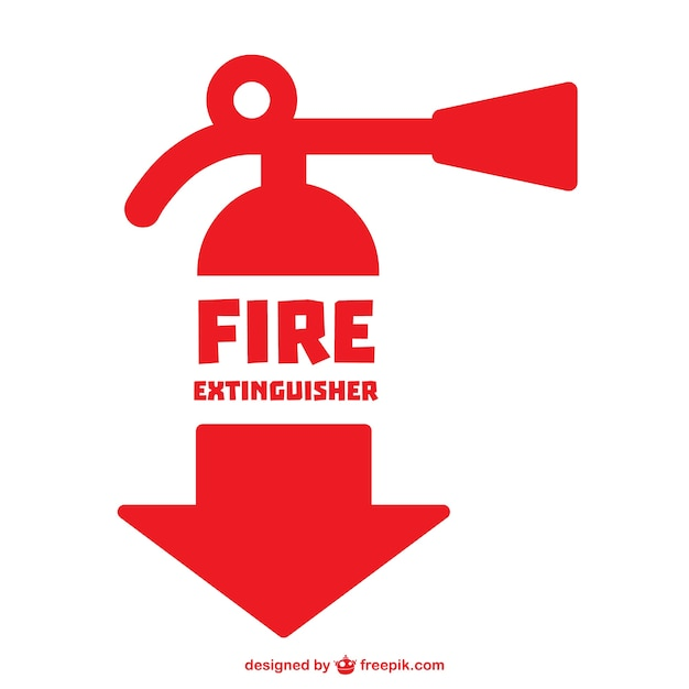 Fire Extinguisher Symbol Vector Free Download