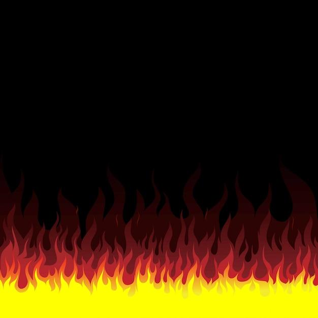 Fire flame background. set of fire banner. vector illustration. Premium Vector