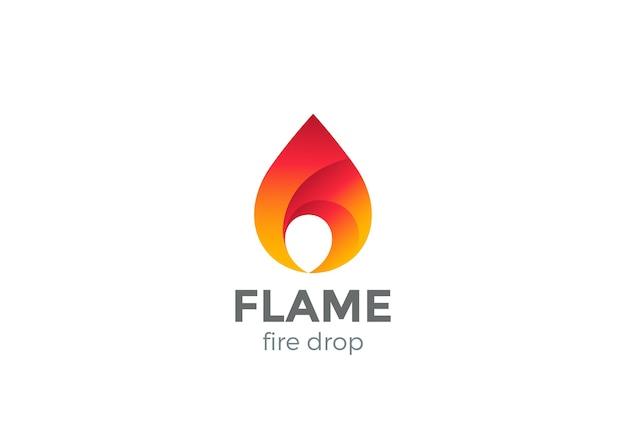 Логотип огня пламени, изолированные на белом фоне Бесплатные векторы