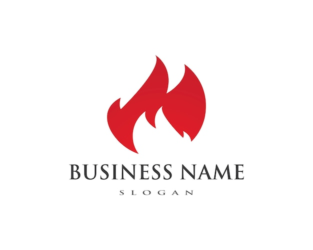 Fire flame logo template Vector | Premium Download