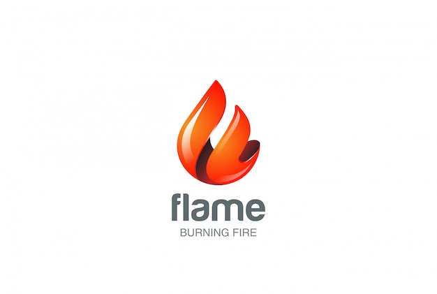 Fire flame logo. Free Vector