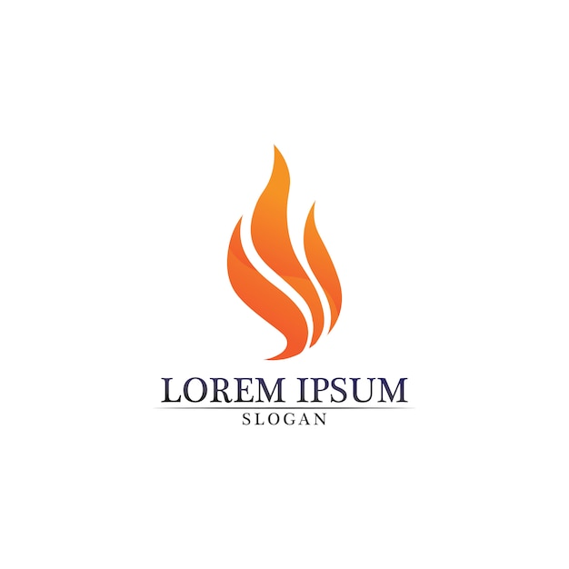 Fire flame nature logo Premium Vector