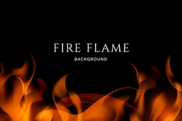 Fire and flames background Free Vector