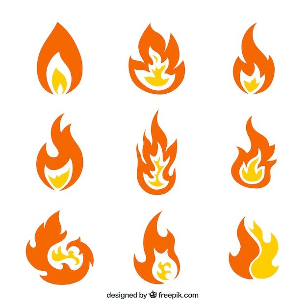 Fire Flames Vector Free Download