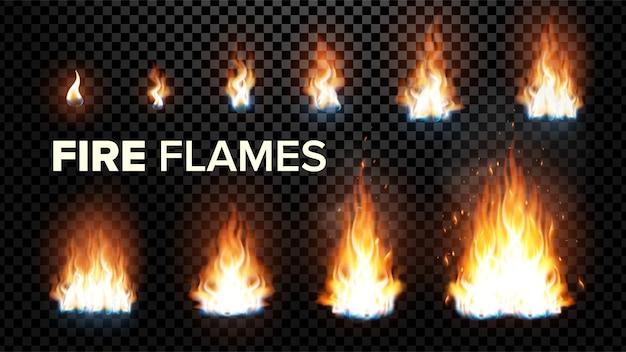 Fire flames Premium Vector