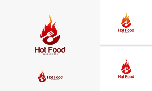 Fire food symbol vector Premium Vector