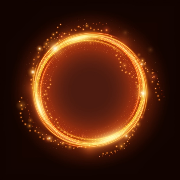 Fire light ring with spark vector Premium Vector