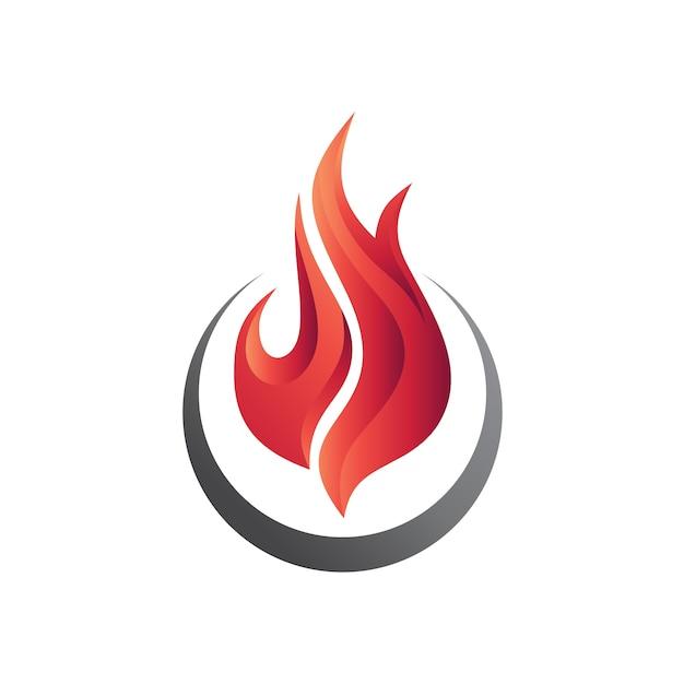 Fire logo template Premium Vector