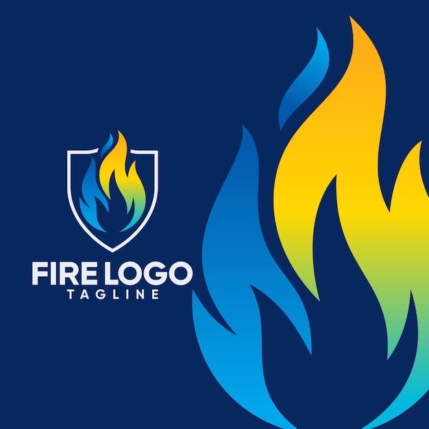 Fire logo templates Premium Vector