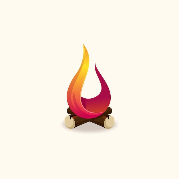 Fire logo vector design Premium Vector