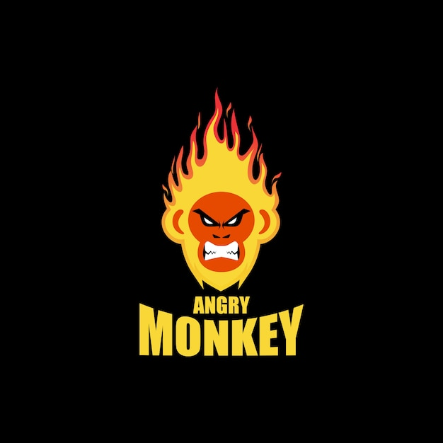 Fire monkey logo Premium Vector
