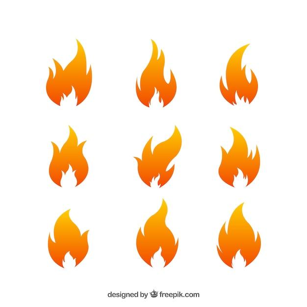 Огонь украшения Бесплатные векторы