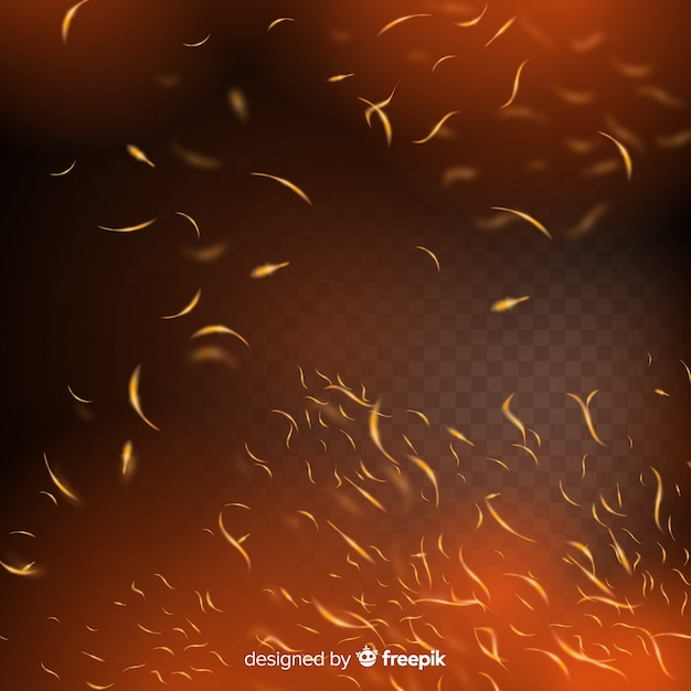 Fire sparks effect with transparent background Free Vector