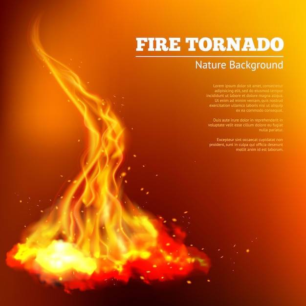 Fire tornado illustration Free Vector