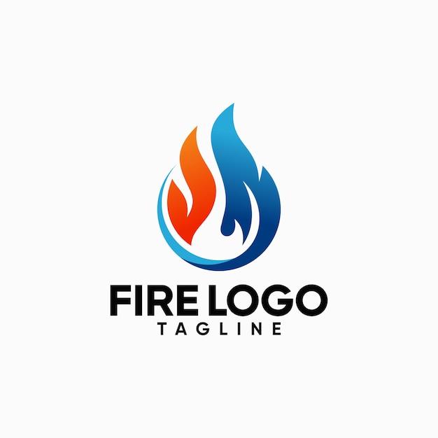 Шаблоны логотипов fire Premium векторы
