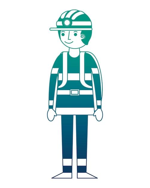 Firefighter avatar character icon vector illustration design Premium Vector