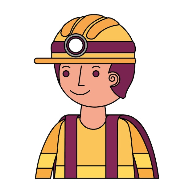 Firefighter avatar character icon vector illustration design Premium Vector