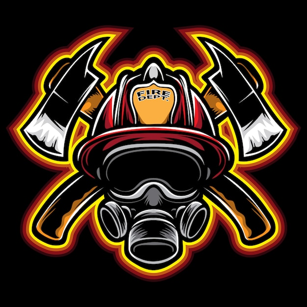 Firefighter vector Premium Vector
