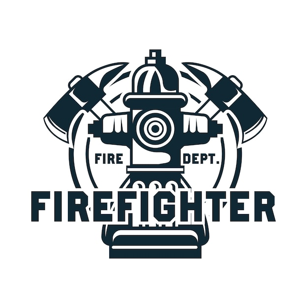 Firefighter with text space for your slogan Premium Vector