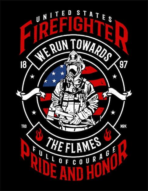 Firefighter Premium Vector