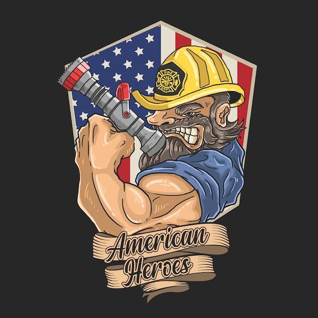 Пожарные охотно спасают жизни Premium векторы