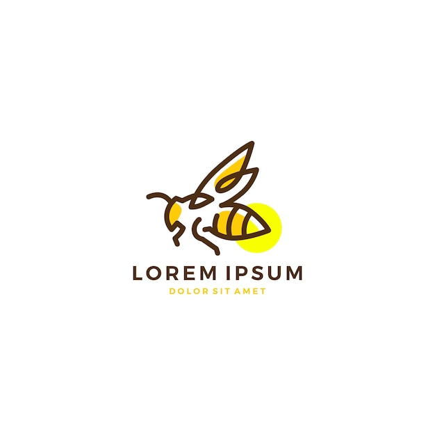 Firefly logo vector icon Premium Vector