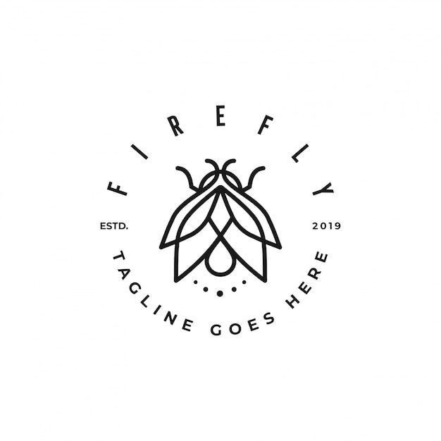 Firefly simple logo Premium Vector