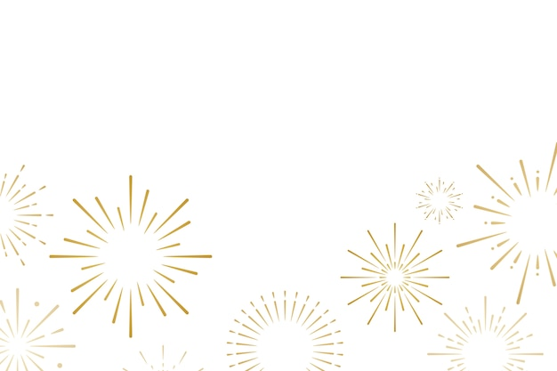 Firework explosions background design vector Free Vector