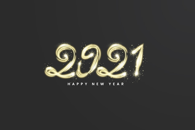 Фейерверк новый год 2021 фон Бесплатные векторы