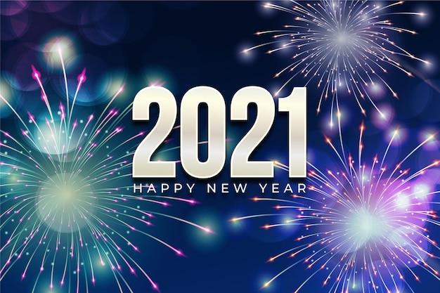 Салют новый год 2021 | Премиум векторы